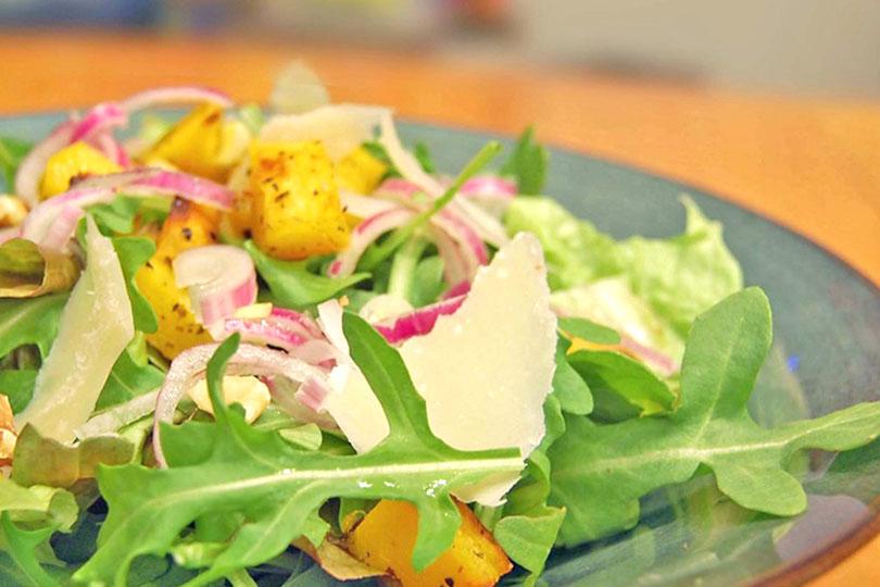 Salade à la courge rôtie