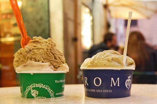 Pour gourmands à Rome: dégustation de «gelati»