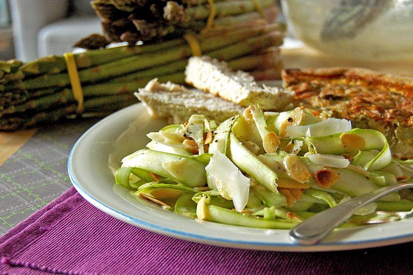 Salade de rubans d'asperges