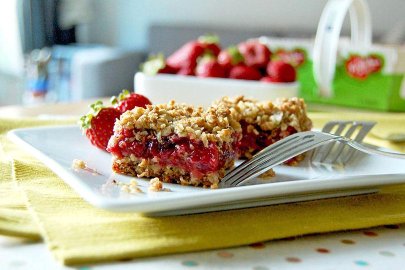 Carrés aux fraises