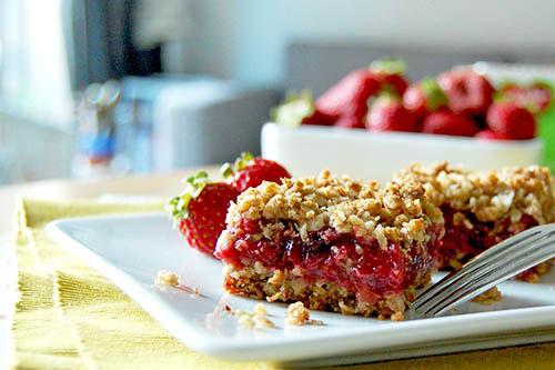 Carrés fraises et canneberges
