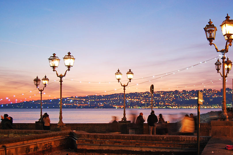Coucher de soleil à Naples