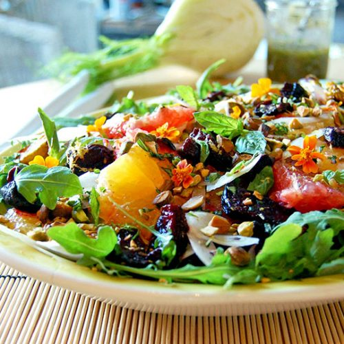 Salade de betteraves rôties aux agrumes