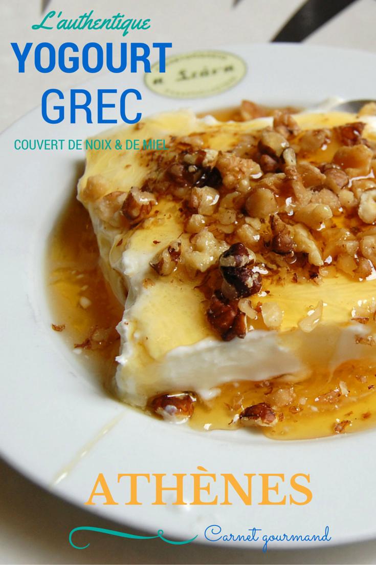 Yogourt grec avec miel et noix