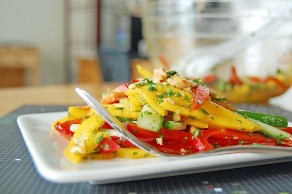 salade mangue poivron