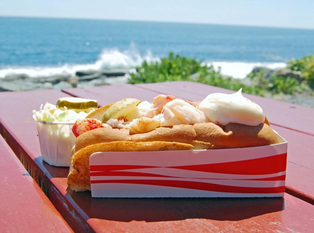 Lobster roll, Two Lights, Cape Elizabeth