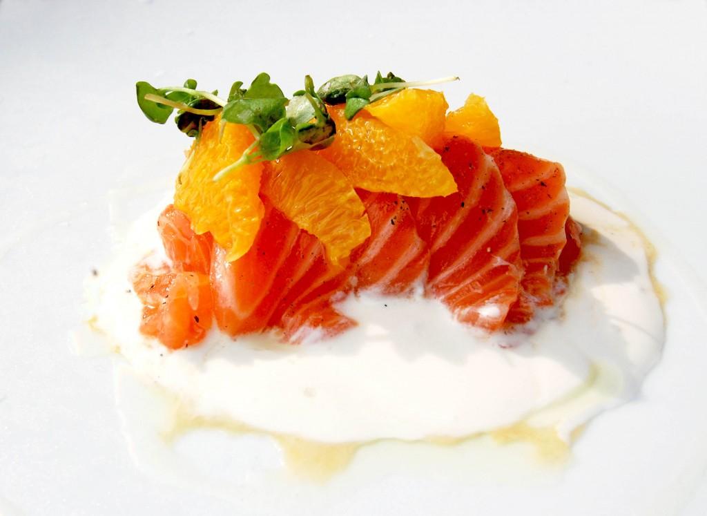 Sushi de saumon aux agrumes