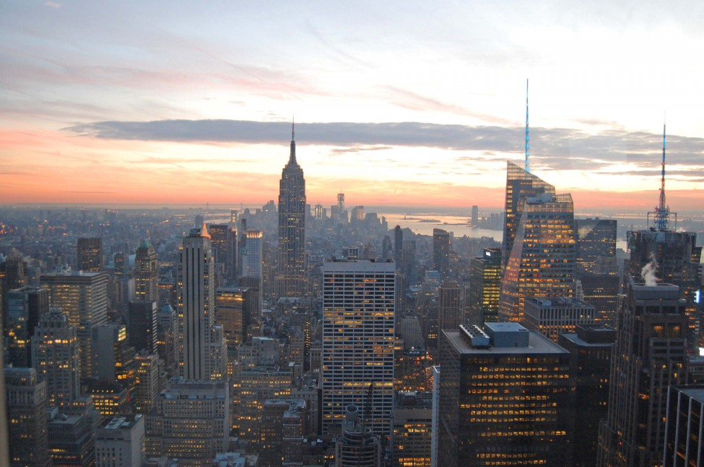 Sunset from the Top of the Rock