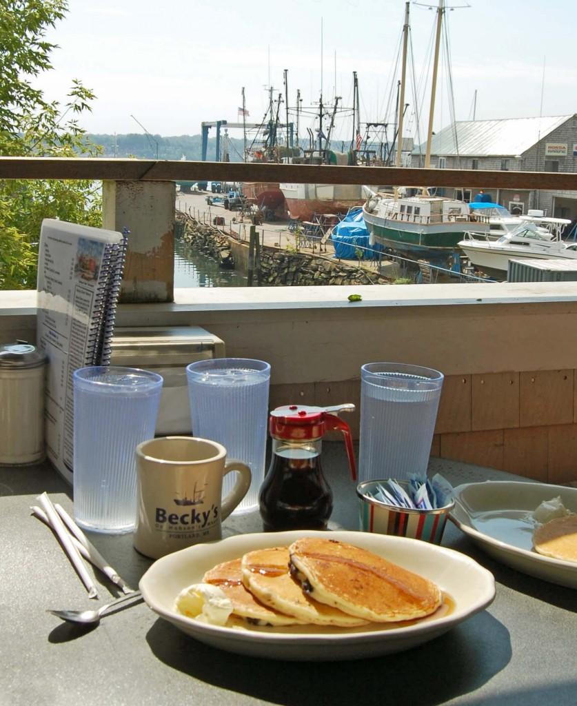 Blueberries pancakes, Becky's diner, Portland