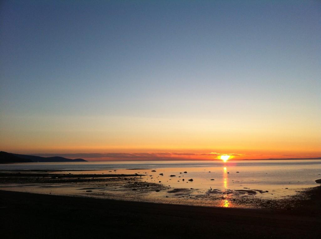 Lever du soleil à Ste-Irénée