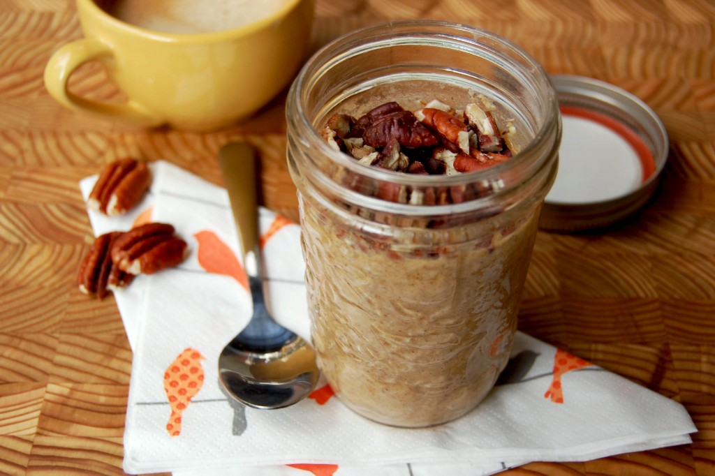 Overnight oatmeal - citrouille