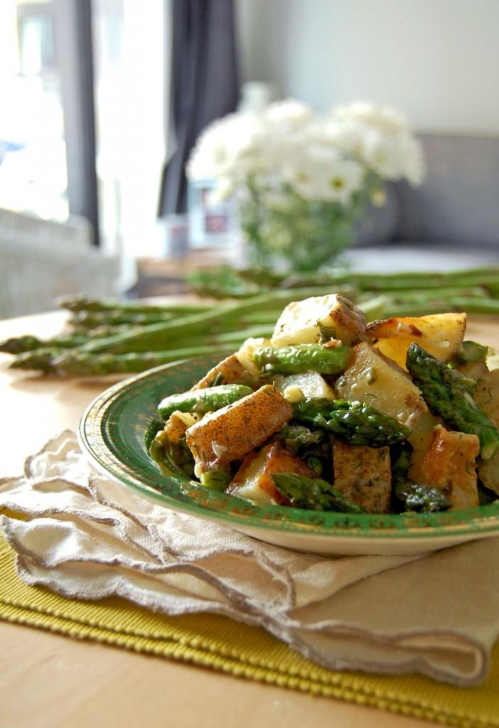 Salade asperges et pommes de terre