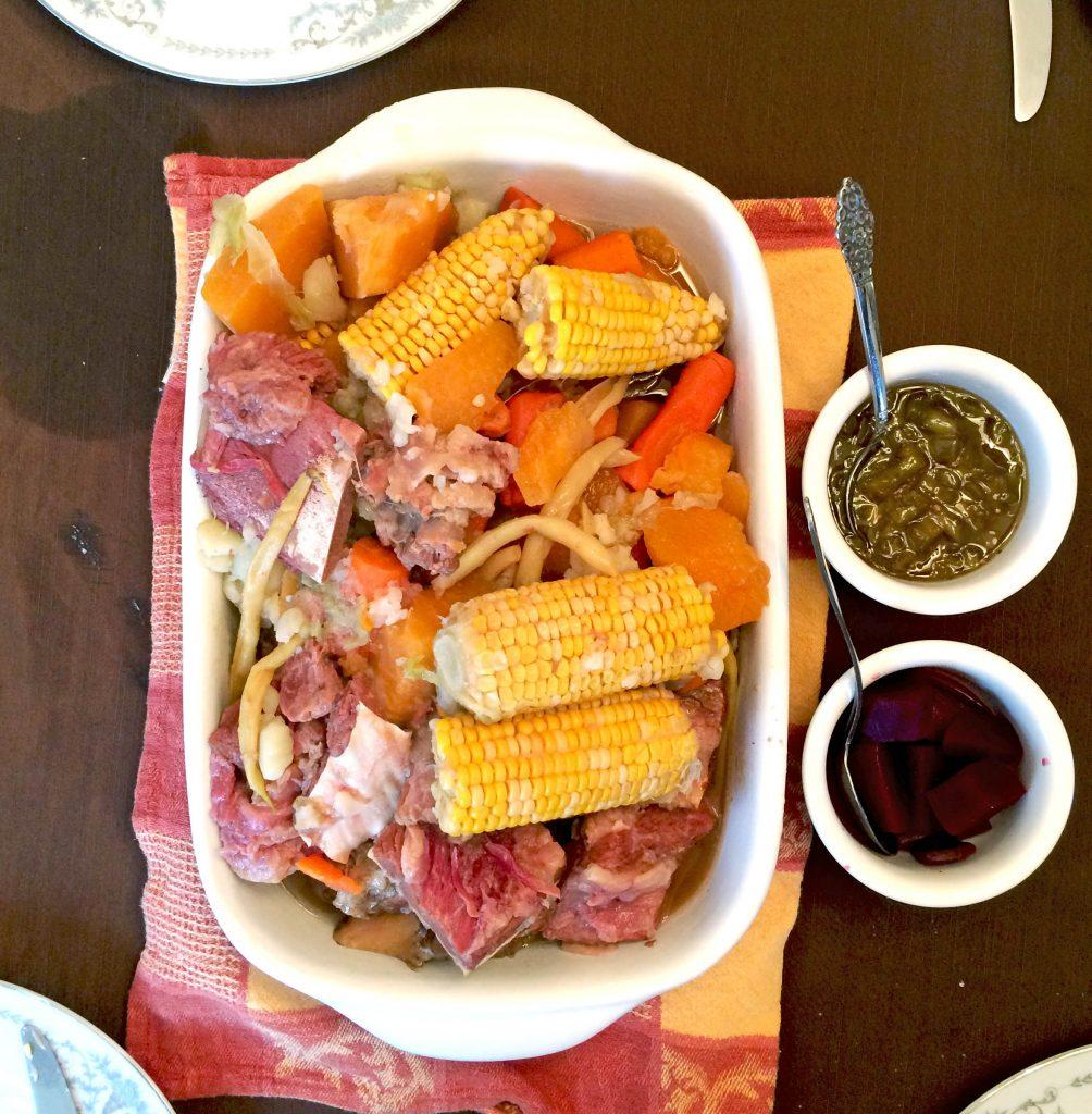 bouilli de viande salée