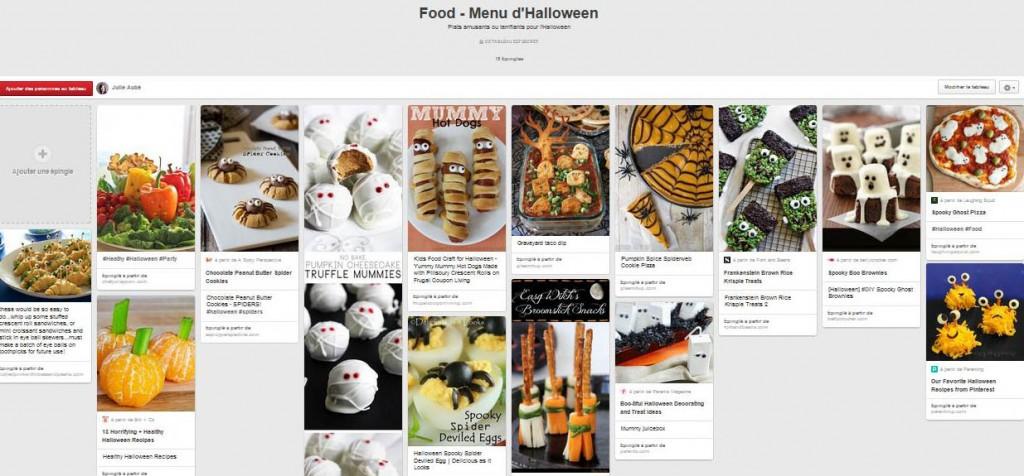Tableau Pinterest: 15 idées pour le menu d'Halloween