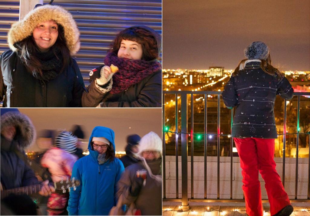 marché de Noel sur le toit, coin marché, illuminations