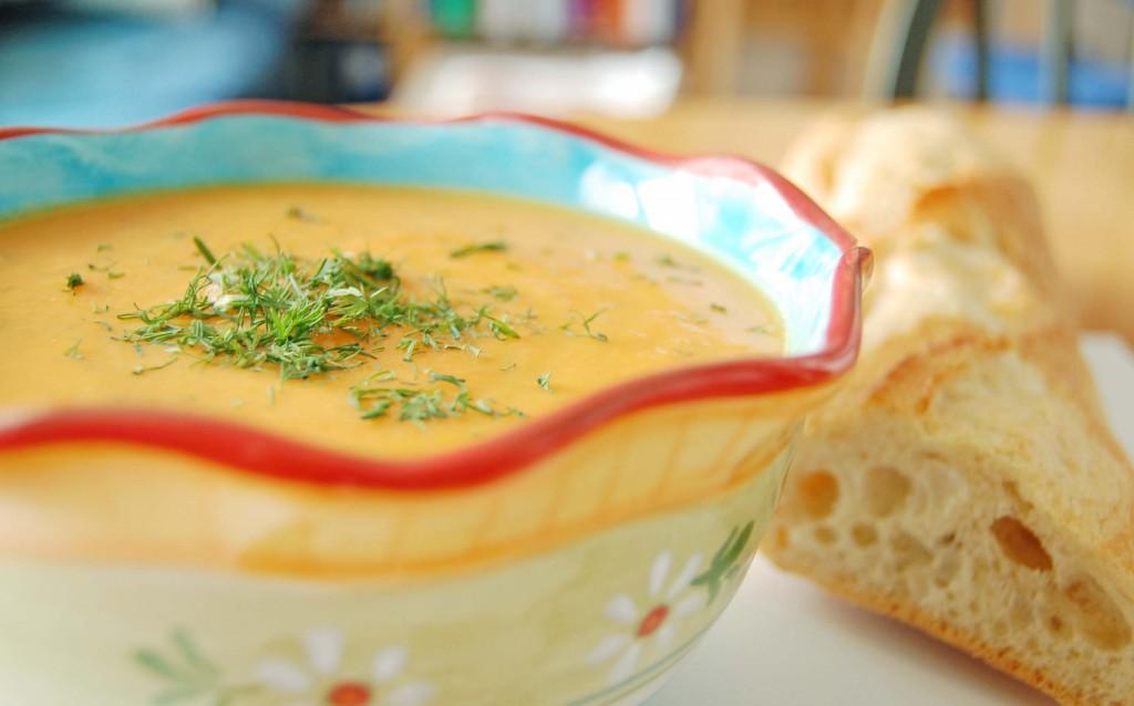 potage carotte aneth