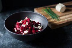 Salade de betteraves marinées au verjus