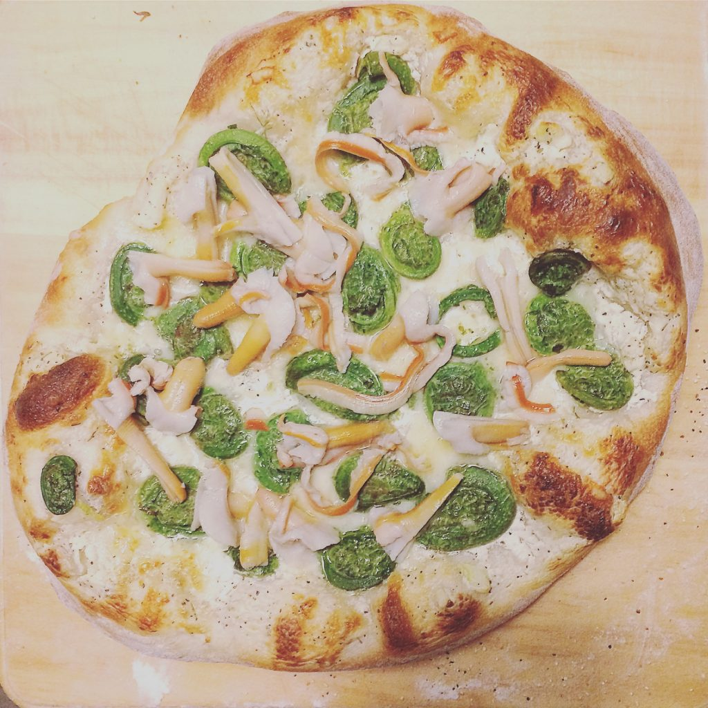 Pizza aux têtes de violon