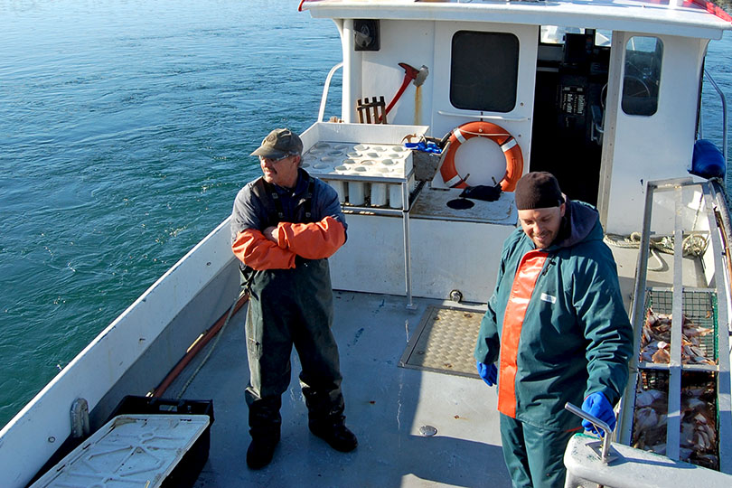 Kaven et Jeannot Aucoin, pêcheurs de homard