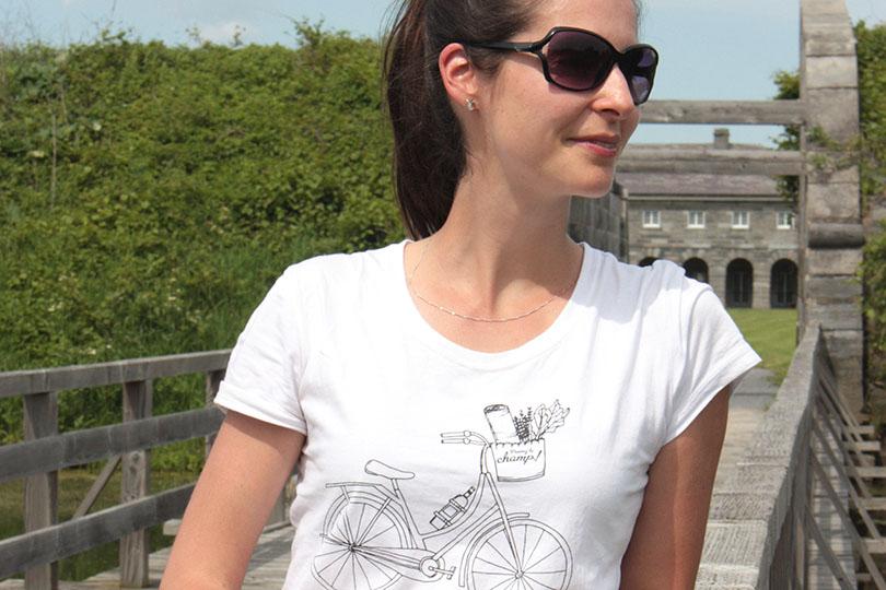 T-shirt Prenez le champ, Julie Aubé