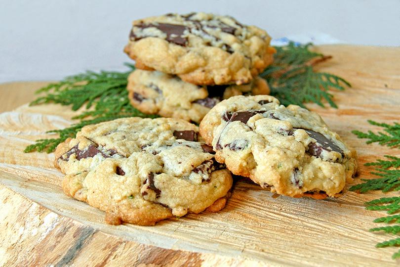 Biscuits au chocolat et au cèdre
