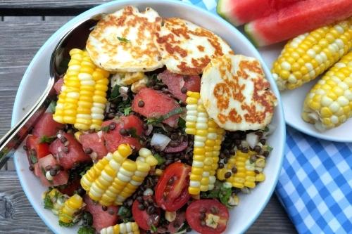 """Salade de lentilles béluga au """"reste d'épluchette"""""""