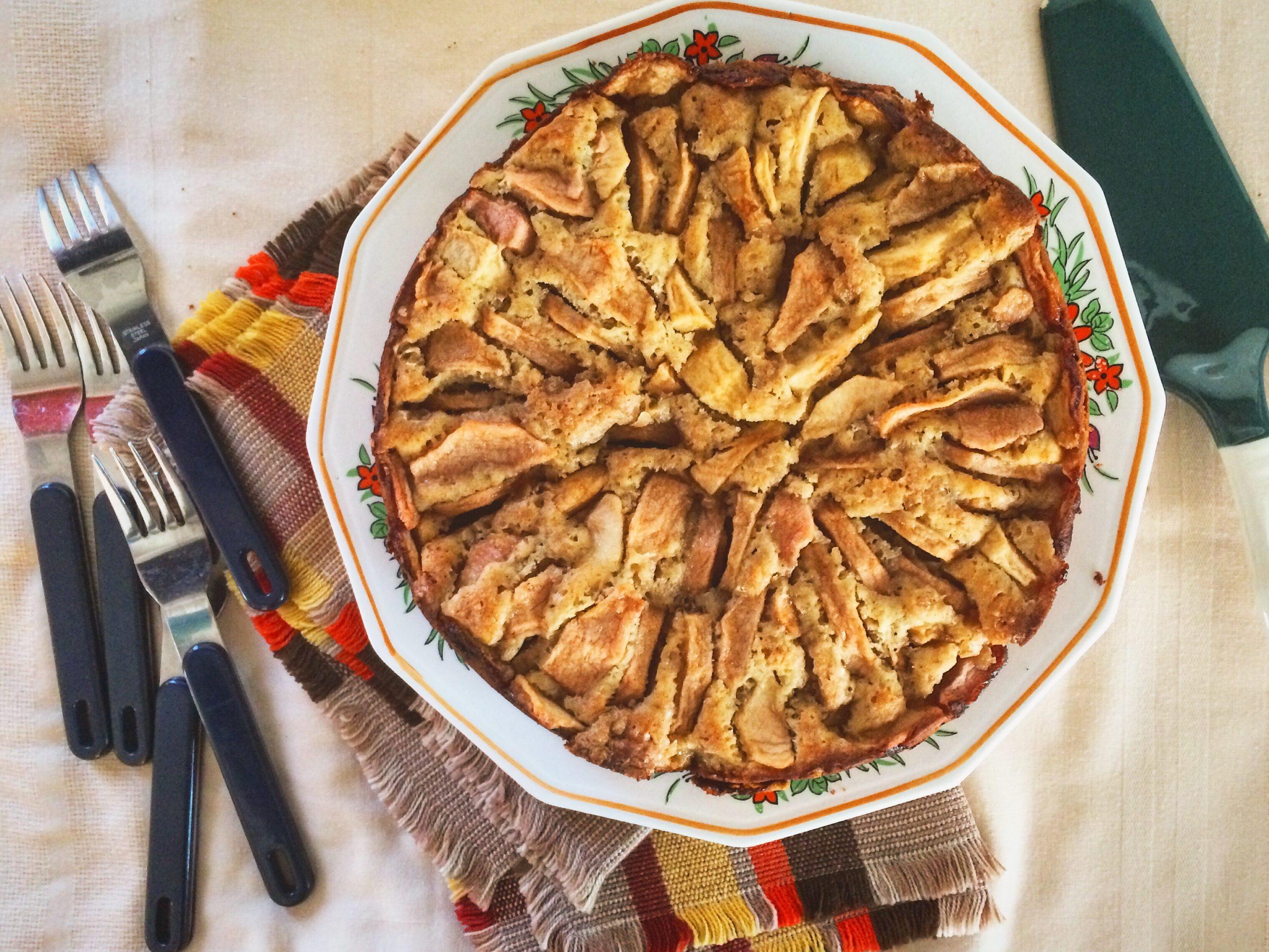 Gâteau érable, pommes et poivre des dunes