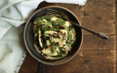 Salade de courgettes grillées au tournesol