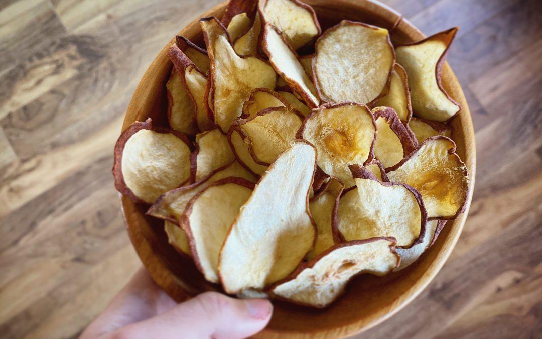 Chips de poire (et l'histoire de la fois où j'ai cuisiné un poirier)