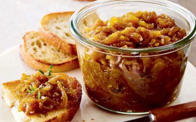 Oignons caramélisés à l'érable et au sirop de bouleau